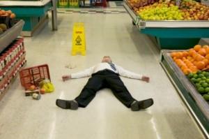 slippery flooring